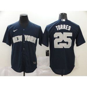 New York Yankees Gleyber Torres Navy Game Jersey